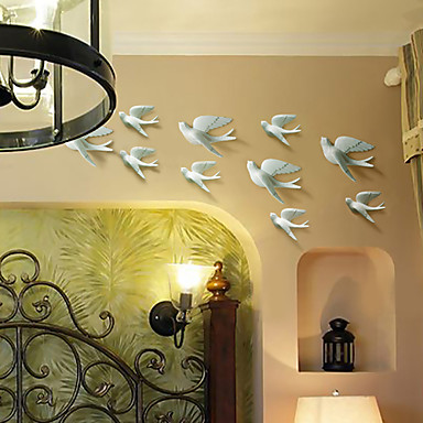 Metal Wall Art Wall Decor, The Dove Flying Wall Decor Set of 5 ...