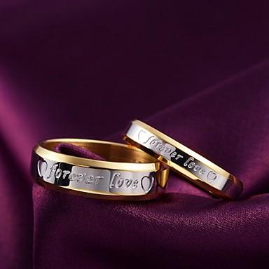 Par Bandring spinnring M W Titanstål damer Mode Bröllop Dagligen Smycken Tvåfärgad
