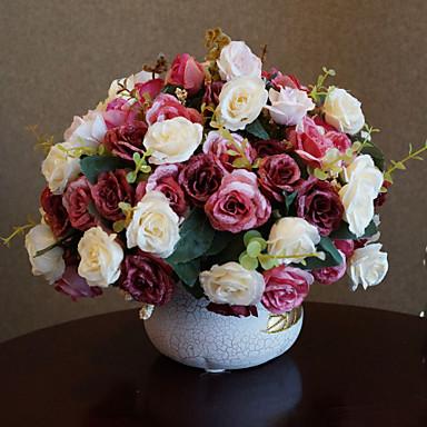 49ef3b9ce [$51.59] Polyester Roser Kunstige blomster
