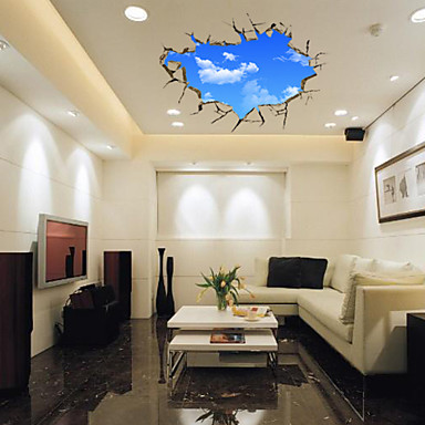 [$14.39] Paesaggi 3D Fantasia Adesivi murali Adesivi 3D da parete Adesivi  decorativi da parete, Vinile Decorazioni per la casa Sticker murale