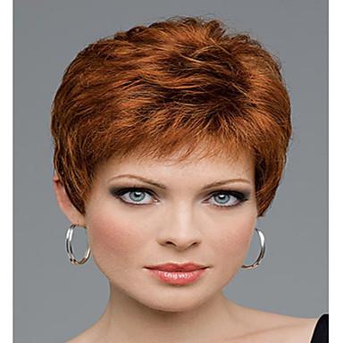 Syntetiska peruker Vågigt Vågigt Peruk Korta Regnbåge Syntetiskt hår Dam Flerfärgad