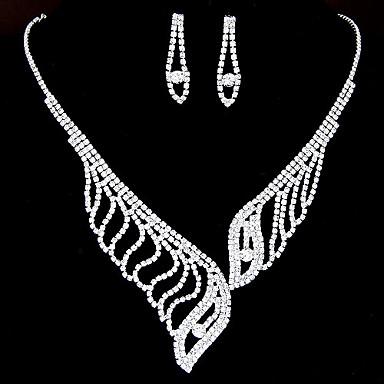 Vit Smycken Set Brudkläder Diamantimitation örhängen Smycken Vit Till Bröllop Party Speciellt Tillfälle Årsdag Födelsedag Förlovning