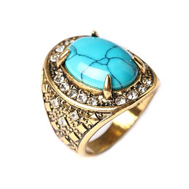Dam Ring Turkos Röd Grön Blå Turkos damer Asiatisk Mode Dagligen Smycken