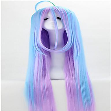 Syntetiska peruker Rak Rak Peruk Regnbåge Syntetiskt hår Flerfärgad