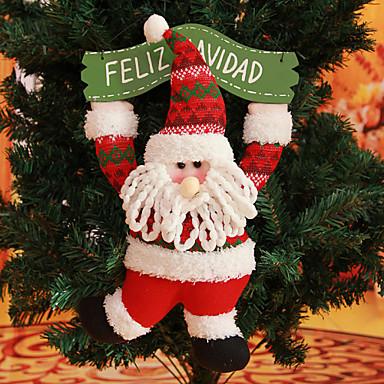 Babbo Natale In Spagnolo.16 79 15 7 Spagnolo Citazione Feliz Navidad Buon Corona Di Natale Babbo Natale Appeso Decorazione Dell Albero Di Natale