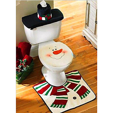 Marvelous 20 39 Christmas Washroom Decoration Santa Snowman Toilet Seat Cover Pabps2019 Chair Design Images Pabps2019Com