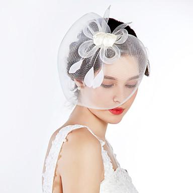 voordelige Hoeden-Tule / Kristal / Stof tiaras / fascinators met 1 Bruiloft / Speciale gelegenheden / Feest / Uitgaan Helm