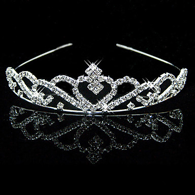 cheap Party Accessories-Alloy Tiaras with 1 Wedding / Special Occasion Headpiece