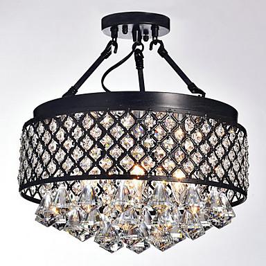MAX:60W Takmonterad ,  Traditionell/Klassisk Målning Särdrag for Kristall Metall Living Room / Bedroom / Dining Room / Sovrum / Kök