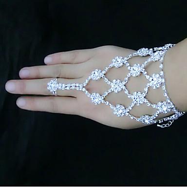 levne Dámské šperky-Dámské Wrap Náramky Náramky Kytky Slunečnice Štras Náramek šperky Bílá Pro Párty Denní / Postříbřené / Umělé diamanty