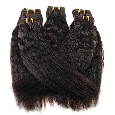 povoljno Ekstenzije od ljudske kose-1 paket Brazilska kosa Yaki Straight Virgin kosa Ljudske kose plete 8-28 inch Isprepliće ljudske kose Proširenja ljudske kose / 10A / Ravan kroj