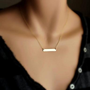 levne Dámské šperky-Dámské Náhrdelníky s přívěšky Bar Lahůdka dámy Jednoduchý minimalistický styl Pozlacené Slitina Zlatá Stříbrná Náhrdelníky Šperky Pro Zvláštní příležitosti Narozeniny Dar
