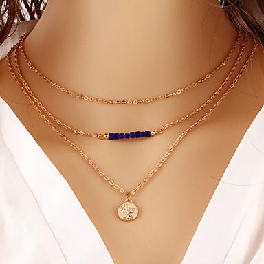 Dam Lager Halsband damer Mode Guld Halsband Smycken Till Dagligen