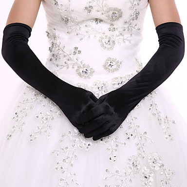 preiswerte Handschuhe für die Party-Elasthan Opernlänge Handschuh Brauthandschuhe Party / Abendhandschuhe