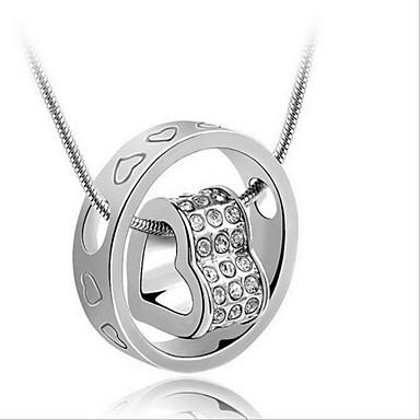 Dam Hänge Halsband Flytande Hjärta Hollow Heart damer Mode Brudkläder Sterlingsilver Silver Halsband Smycken Till Bröllop Gåva Dagligen Casual