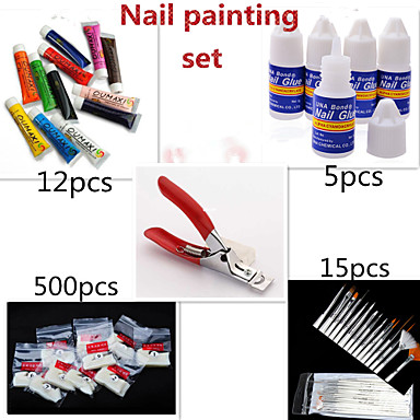 1set Vackert Akrylfiber Nagelsmycken Till finger nagel konst manikyr Pedikyr Punk / Nail Smycken