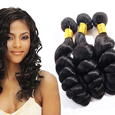 povoljno Ekstenzije od ljudske kose-3 paketa Brazilska kosa Valovita kosa Ljudska kosa Ljudske kose plete Isprepliće ljudske kose Proširenja ljudske kose / 8A