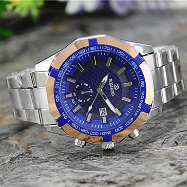 levne Pánské-Pánské Náramkové hodinky Křemenný Kov Stříbro Hodinky na běžné nošení Analogové Přívěšky - Bílá Černá Modrá