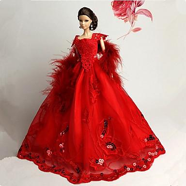 d2f5e143c824 Πάρτι   Απόγευμα Φορέματα Για Barbiedoll Δαντέλα   Organza Φόρεμα Για Κορίτσια  κούκλα παιχνιδιών 4652608 2019 –  9.17