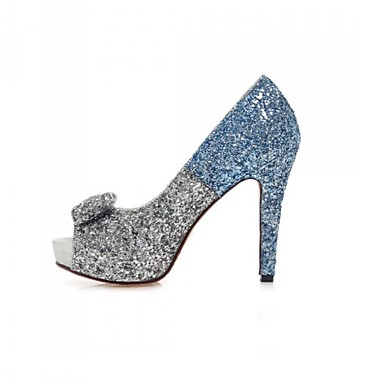 dab6fab8632 Women s Shoes Glitter Stiletto Heel Heels   Peep Toe   Platform Sandals  Wedding   Party   Evening   Casual Blue 4737455 2019 –  44.99