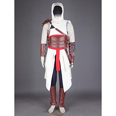 Inspirerad av Lönnmördare Altair Video Spel Cosplay-kostymer cosplay Suits Lappverk Byxor Handskar Skärp Kostymer / Kappa / T-shirt / Hatt / Axelrustning / Kraghandskar
