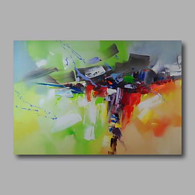 Hang målad oljemålning HANDMÅLAD - Abstrakt Moderna Inkludera innerram / Sträckt kanfas