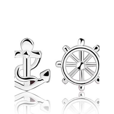 levne Dámské šperky-Dámské Peckové náušnice Kotva Stříbro Stříbrná Náušnice Šperky Stříbrná Pro Svatební Párty Denní