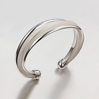 Dam Armringar Asiatisk Sterlingsilver Armband Smycken Silver Till Bröllop Party Dagligen Casual