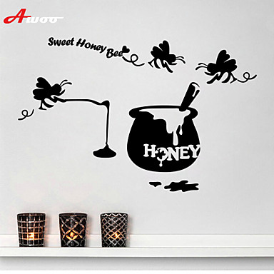 AWOOR New Design Pattern Sweet Honey Bee Wall Stickers Home Decor Vinyl For Kids Room Decoration 4727288 2019 769