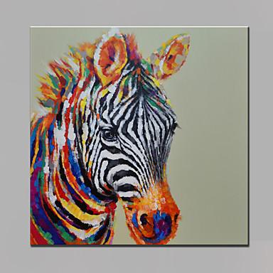 Handgemalte pop art quadratisch modern segeltuch hang - Cuadros de cebras ...