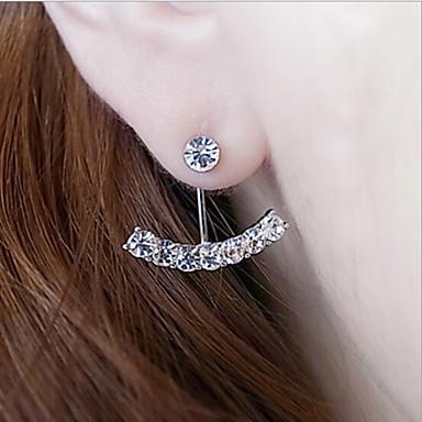 Dam Örhänge Fram- och bakstajlade örhängen Spelrum Klassisk Pärla Bergkristall örhängen Smycken Silver / Brun Till Dagligen Casual
