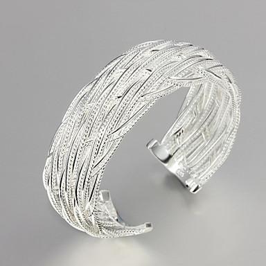 Dam Armringar Sterlingsilver Armband Smycken Silver Till Bröllop Party Dagligen Casual