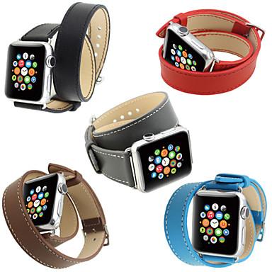 Klockarmband för Apple Watch Series 5/4/3/2/1 Apple Klassiskt spänne Äkta Läder Handledsrem