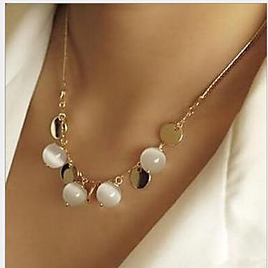 povoljno Modne ogrlice-Žene Opal Moonstone Lančići Boemski stil Opal Legura Zlato Ogrlice Jewelry Za