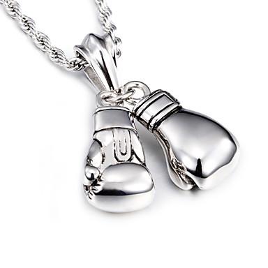 levne Pánské šperky-Pánské Náhrdelníky s přívěšky Dlouhé Evropský Módní Nerez Titanová ocel Stříbrná Náhrdelníky Šperky Pro Vánoční dárky Denní Ležérní