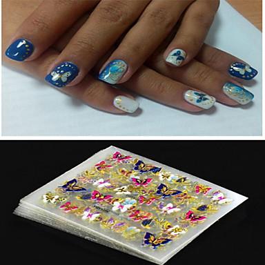 4 pcs 3D Nail Stickers Nail Jewelry nail art Manicure Pedicure Punk / Fashion Daily / PVC(PolyVinyl Chloride)