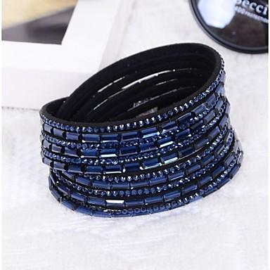 preiswerte Schmuck Herren-Herrn Damen Bettelarmband Glas Armband Schmuck Blau / Rosa / 7 Farbiges LED Für Weihnachts Geschenke Hochzeit Party Alltag Normal