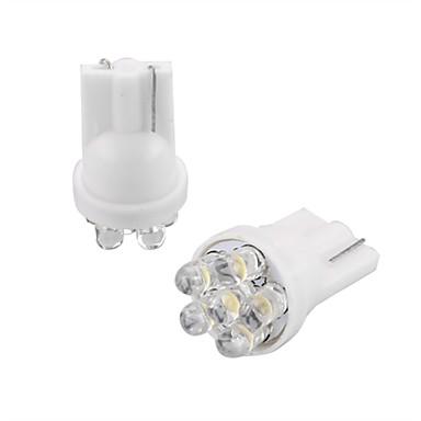 10 * auto t10 koepel lamp nummerplaat dashboard lamp 6 LED ...