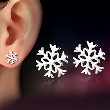 levne Dámské šperky-Dámské Peckové náušnice Sněhová vločka dámy Klasické Stříbro Stříbrná Náušnice Šperky Stříbrná Pro Svatební Párty Denní