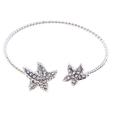 Herr Kristall Manschett Armband Kristall Armband Smycken Silver Till Party Dagligen Casual / Försilvrad