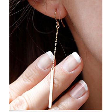 levne Dámské šperky-Dámské Visací náušnice Bar Levný dámy Jednoduchý minimalistický styl Módní Elegantní Pozlacené Náušnice Šperky Stříbrná / Zlatá Pro Párty Denní Ležérní