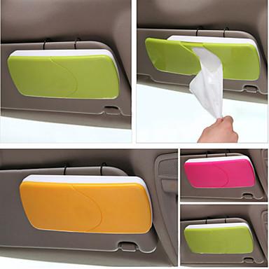 Leather Q Auto Car Sun Visor Tissue Box Accessories Holder Paper Napkin Clip