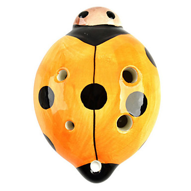 nyckelpiga stil 6-håls c-nyckel ocarina musikinstrument - apelsin