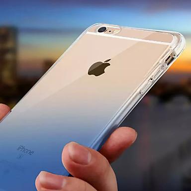 povoljno iPhone maske-Θήκη Za Apple iPhone X / iPhone 8 Plus / iPhone 8 Vodootpornost / LED bljeskalica Stražnja maska Prijelaz boje Mekano TPU