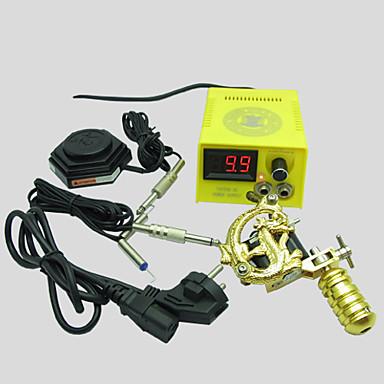 BaseKey Professionell Tattoo Kit Tattoo Machine - 1 pcs Tatueringsmaskiner LED strömförsörjning 1 x legerings tatueringsmaskin för linjering och skuggning