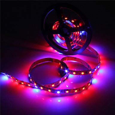 zdm 5m vattentät ip65 5050 4 röd + 1 blå fullspektrum LED växa ljus 300 led led strip lampor för växter växer akvariebelysning 1pc