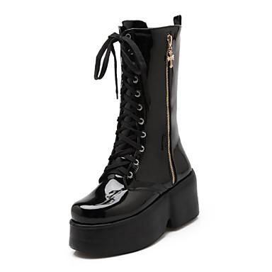 Női Vastag Magasított Csizmák csizma talpú cipő Divatos qxrtwFZr