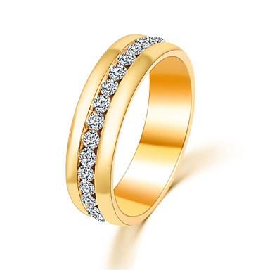 Dam Bandring Statement Ring Löftesring Kristall Silver Brun Kristall Diamantimitation Legering damer Lyx Minimalistisk Stil Party Dagligen Smycken