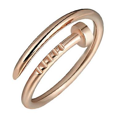 billige Motering-Dame Band Ring vikle ring tommelfingerring Sølv Gylden Sølv damer Fest Daglig Smykker Justerbar
