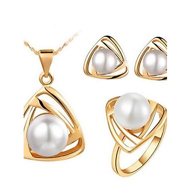c60b2e707697 Mujer Conjunto de joyas Pendientes Collare - Fiesta Trabajo Casual Dorado  Blanco Negro Para 4682520 2019 –  8.99